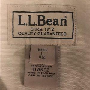 Jackets & Coats - VTG LL Bean Canvas Jacket Mens Large Tan
